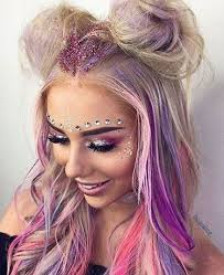 sparkly hair glitter goals how to do glitter for festival season