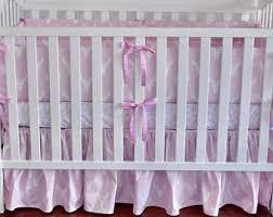 pink crib bedding etsy