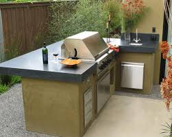 L Shaped Outdoor Kitchen by L Shaped Outdoor Kitchen Houzz