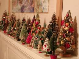 in need a mini tree forest for the mantel deck the