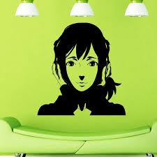 Wall Decal Music Headphones Teen by Anime With Headphones Manga Wall Vinyl Sticker Decals