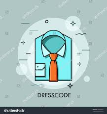 blue folded shirt tie business clothing stock vector 587686859