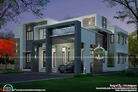 4 bedroom modern house night view and day view kerala home