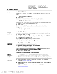 sample resume for assistant professor in computer science resume