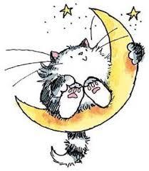 black cat on the moon rubber st 3207h 123stitch com