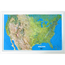 us relief map education raised relief map u s ncr series mainland