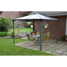 Sunjoy Industries Patio Heater by Palermo Gazebo 10 U0027 X 10 U0027 Grey Bronze Walmart Com