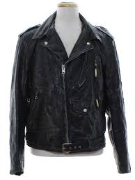 mens black leather motorcycle jacket retro 1970 u0027s leather jacket brent by montgomery ward 70s