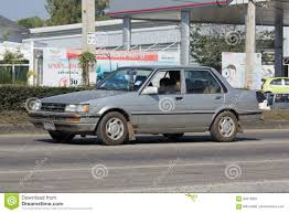 toyota old private old car toyota corolla editorial photography image