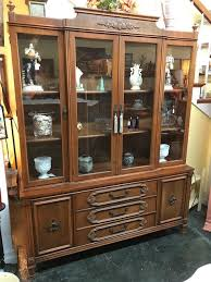 Display Dishes In China Cabinet Bassett China Hutch Cabinet