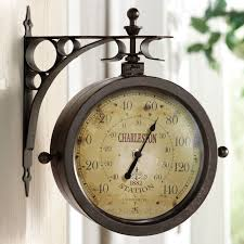 Outdoor Pedestal Clock Thermometer Just Found This Outdoor Clock Thermometer Double Sided Outdoor
