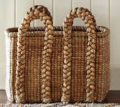 beachcomber oversized rectangular basket pottery barn au