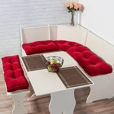 amazon com greendale home fashions 4 piece nook cushion set hyatt
