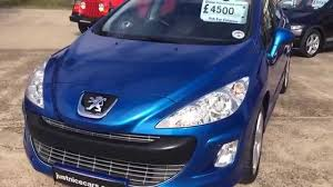 blue peugeot for sale 2008 08 peugeot 308 1 6 vti sport 5dr for sale youtube