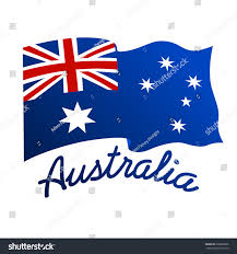 australian flag wind word australia stock vector 268088636