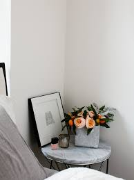 marble top nightstand transitional bedroom