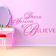 Inspirational Quotes Home Decor Dream Imagine Believe Wall Stickers Life Quote Wall Art