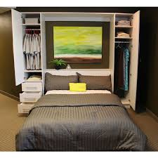 maximize your narrow bedroom with king size murphy bed bedroomi net