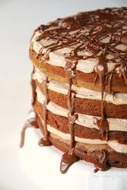 nutella chocolate torte layer cake with nutella mousse