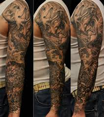 mens half sleeves tattoos blue foo dog half sleeve tattoo for men photos pictures and