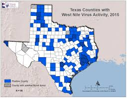 Counties In Texas Map 2015 Texas West Nile Virus Maps