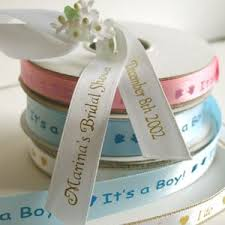 personaized favor ribbon imprinted wedding favor ribbon