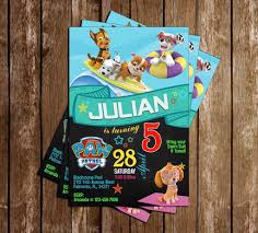 14th birthday party invitations novel concept designs paw patrol pool party chalkboard