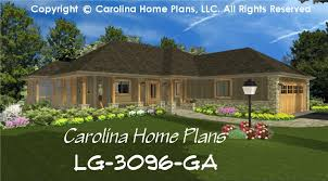 Luxury House Plans With Basements by Large Hillside Ranch Home Plan Chp Lg 3096 Ga Sq Ft Luxury Home