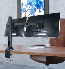 computer desk for dual monitors dual monitor mounts office