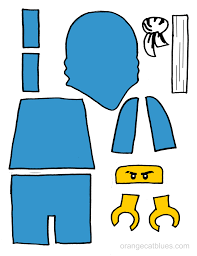 lego ninjago printable cutout for toddler gluestick art the blue