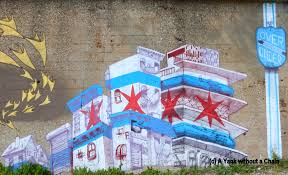 murals a yank without a chain the chicago city flag represented on a mural in pilsen