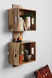 wall shelves design picture ideas wooden crate wall shelves wood