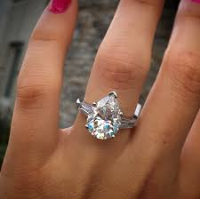 shaped engagement ring trending pear cut diamond rings gem hunt
