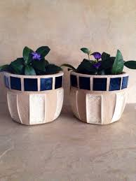 Small Flower Pot by Small Mosaic Flower Pots Tiny Planters Succulent Pots Handmade