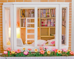House Kit by Amazon Com Wood Dollhouse Miniature Diy House Kit With Furniture