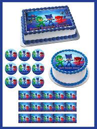 pj masks 1 edible cake topper u0026 cupcake toppers u2013 edible prints