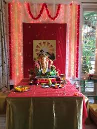 hindu decorations for home image result for ganpati decoration ideas for home with cloth