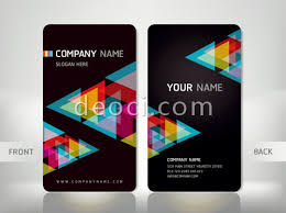 free vector black background personalized business card design