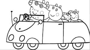 peppa pig cartoon coloring pages kids printable picture