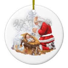 santa and baby jesus picture santa and baby jesus gifts on zazzle