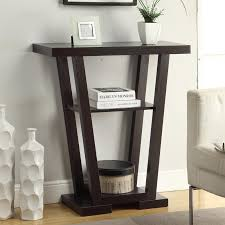 convenience concepts console table convenience concepts newport v shaped console table hayneedle