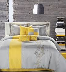 Grey Themed Bedroom by Yellow And Grey Decor Home Design Ideas