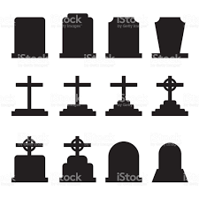 pictures of tombstones set of tombstones with different forms collection of gravestones