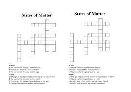 states of matter crossword wordsearch by penny corp teaching