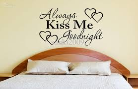 always kiss me goodnight girls vinyl decal romantic wall decor always kiss me goodnight girls vinyl decal romantic wall decor pick size color 32 66 cm wall stickers always kiss me wall decal online with 30 39 piece on