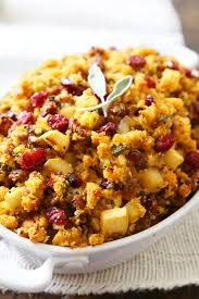 easy dressing for thanksgiving sausage apple and cranberry cornbread stuffing