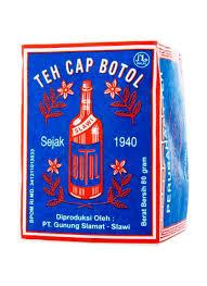 Teh Bubuk cap botol teh bubuk biru pck 80g klikindomaret
