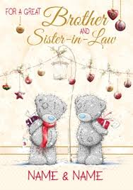 brother u0026 sister in law christmas card gifts me to you funky