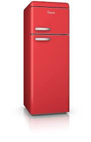 swan products sr11010grn retro top mounted fridge freezer grey