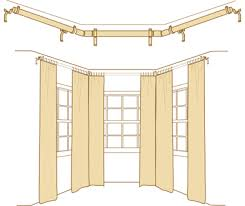 How To Hang Drapes How To Bay Windows Curtain Rods Drapery Rods Rings
